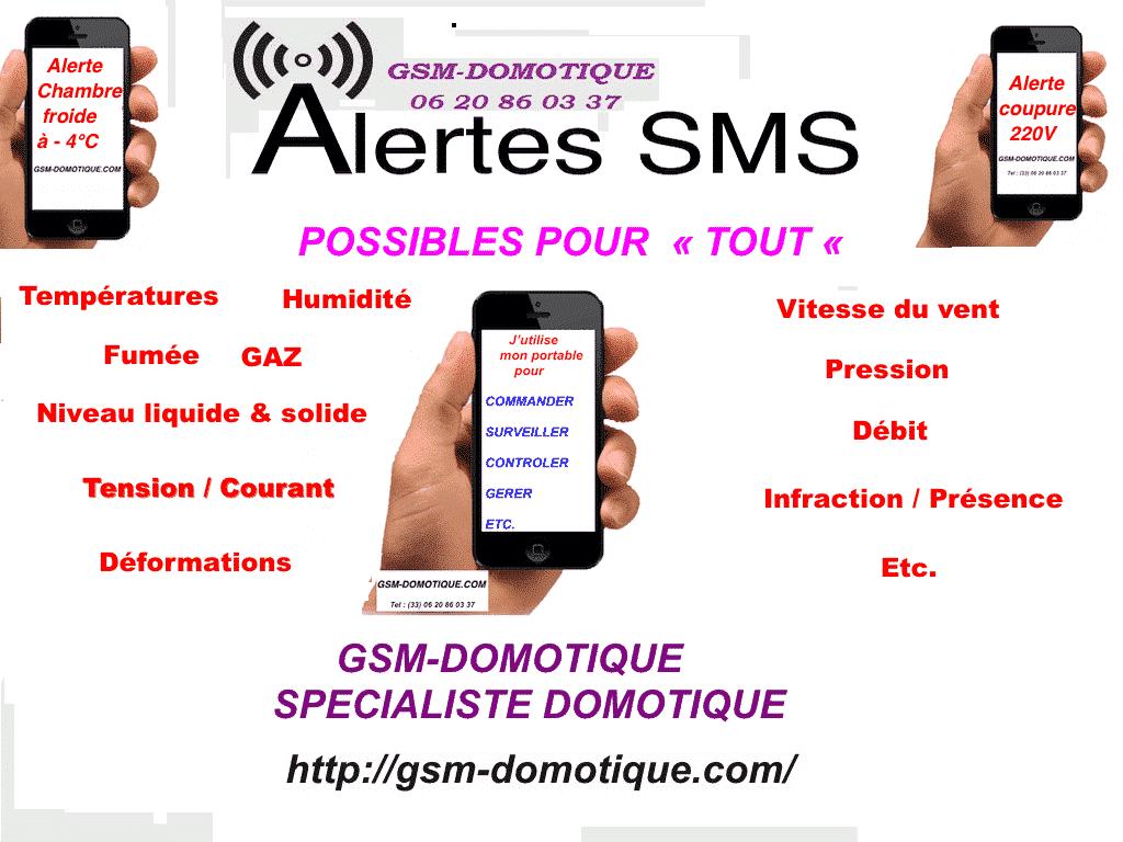 ALARMES-SMS-ALERTES-SMS-SURVEILLANCES PAR SMS-LE-SPECIALISTE-C'EST GSM-DOMOTIQUE