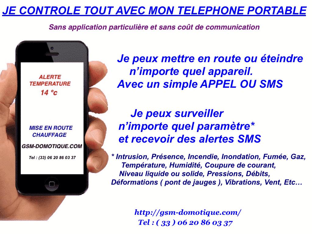 COMMENT TOUT GERER PAR SMS PAR GSM DOMOTIQUE