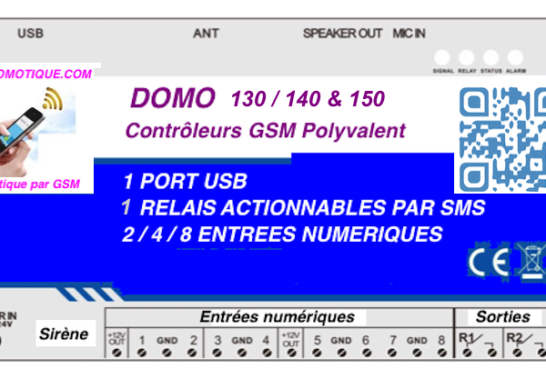 DOMO 140 DE GSM DOMOTIQUE