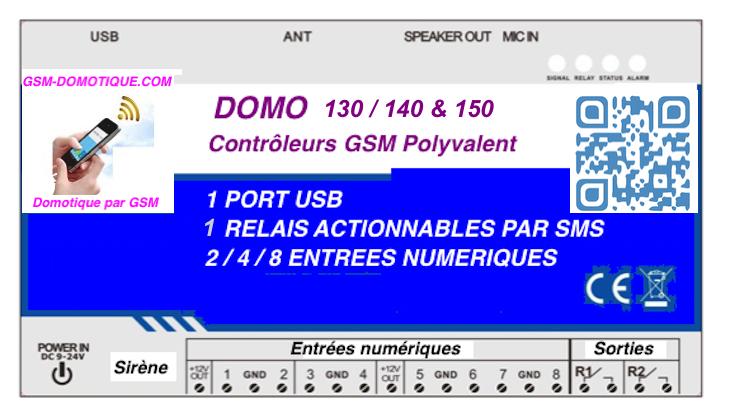 MODULE GSM D' ALARMES PAR SMS et COMMANDE PAR SMS