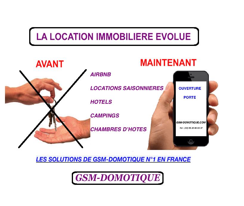 Fini la corvée de remise des clés location immobilère par GSM-DOMOTIQUE
