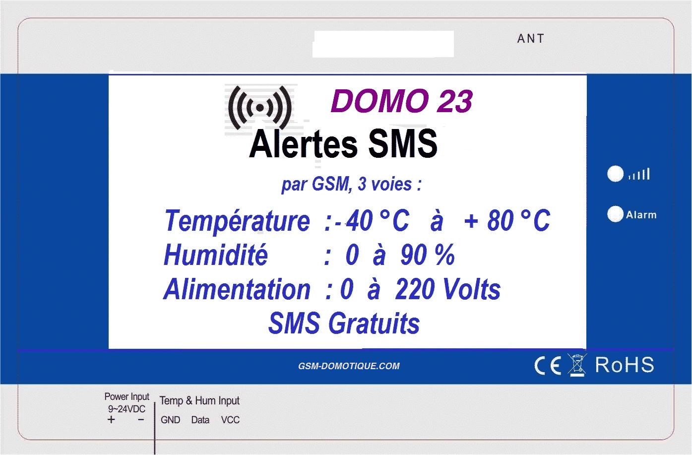 MODULE-GSM-TEMPERATURE - DOMO 23