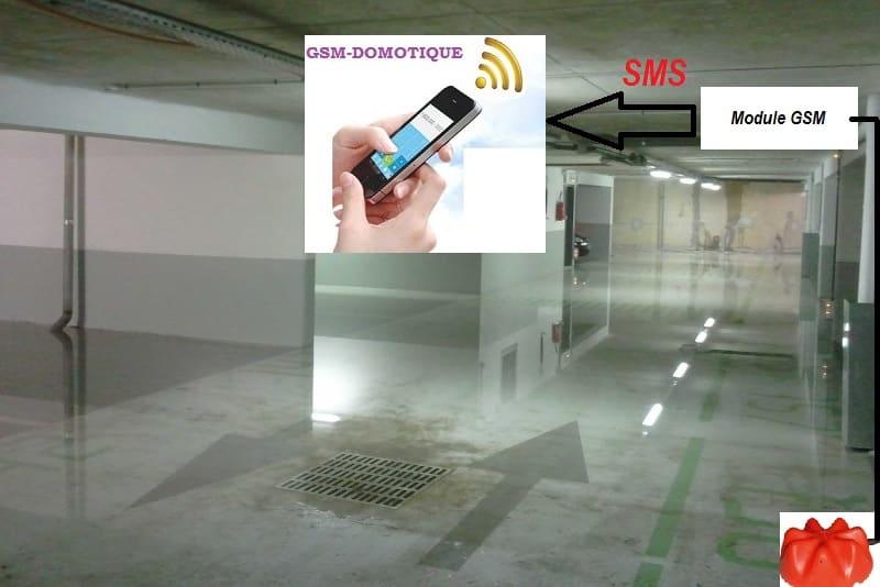 Surveillance inondation sous sol par SMS