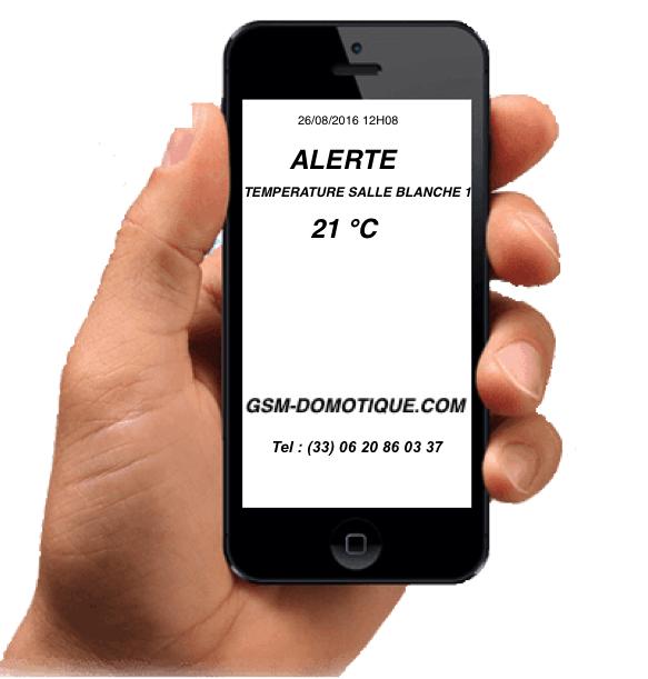 Télésurveillance température humidité des salles blanches par SMS
