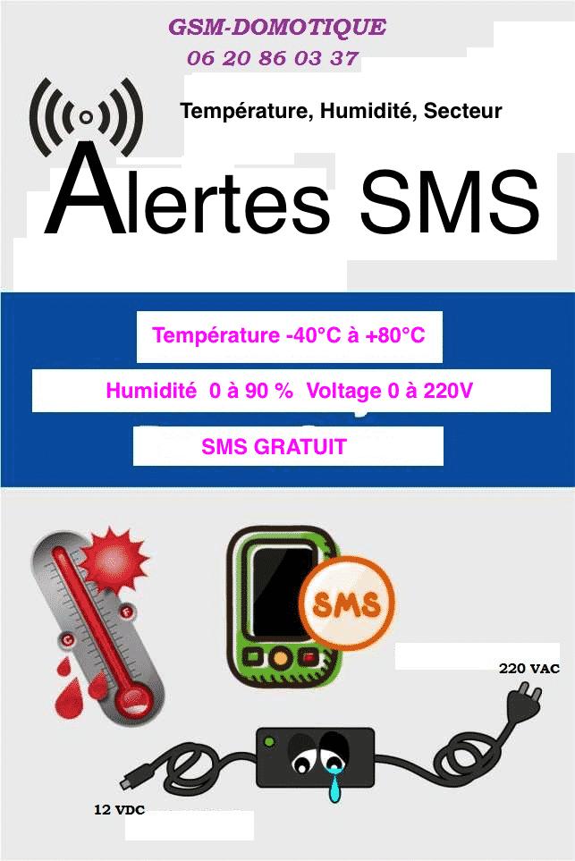 Température par SMS