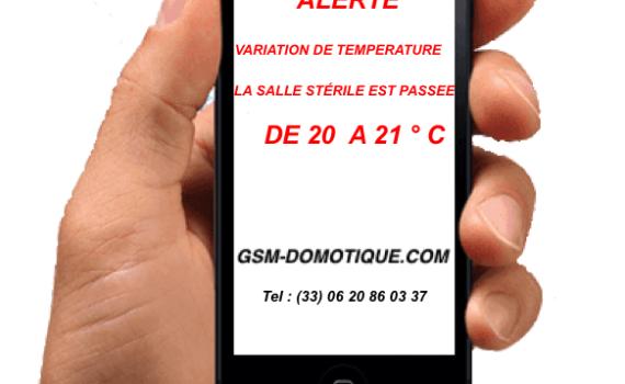 Surveillance température humidité des salles blanches