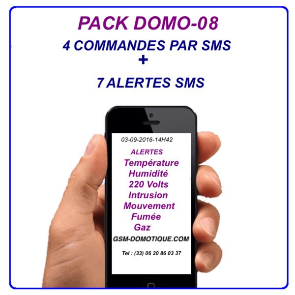 4 Commandes SMS+7 alertes SMS