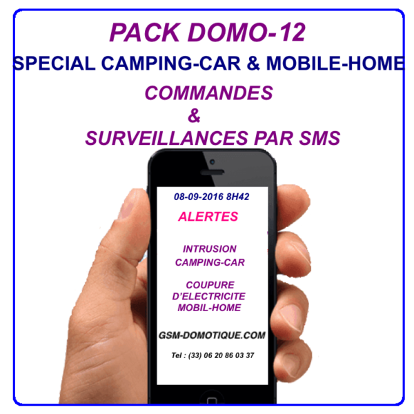 PACK SPECIAL CAMPING-CAR ET MOBILE-HOME - DOMO 12