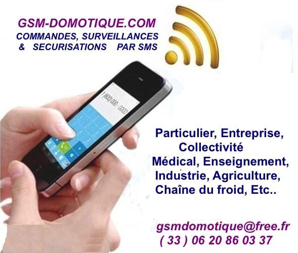 Les produits domotiques de GSM-DOMOTIQUE