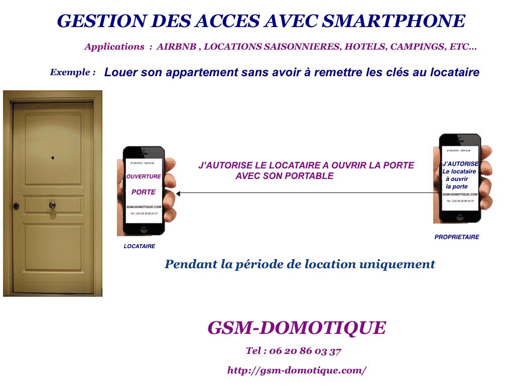 Gestion des accès avec votre smartphone Airbnb