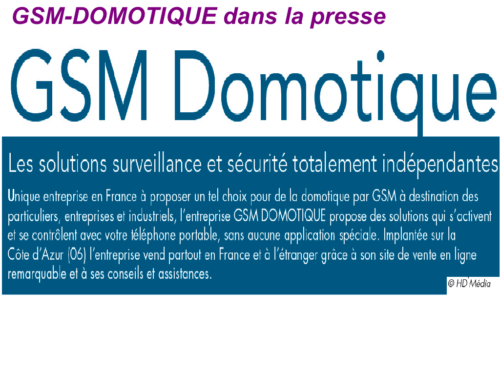 gsm domotique presse