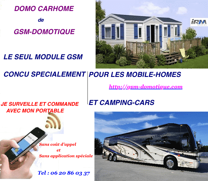 CAMPING-CARS MOBIL-HOMES DOMOTIQUE