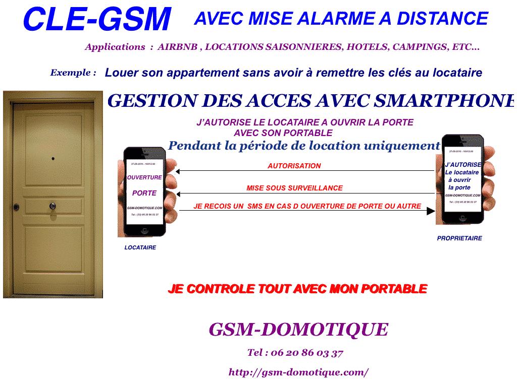 Location saisonnière, clé gsm, surveillance SMS, airbnb