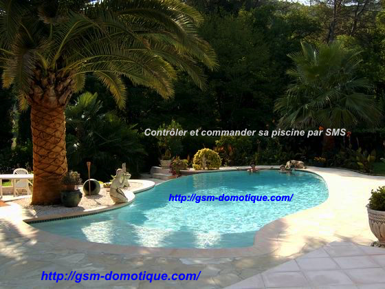 Surveiller et commander sa piscine par sms pompe for Domotique piscine