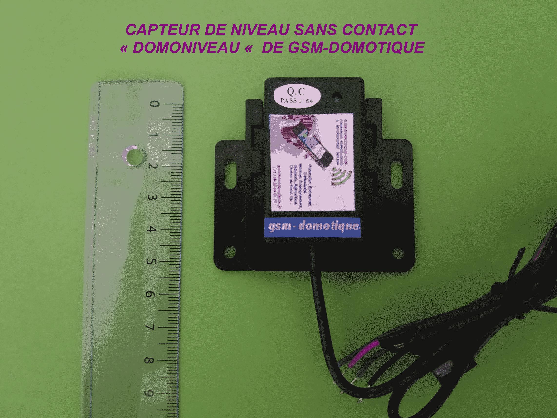 Capteur de niveau sans contact liquide-solide de gsmdomotique