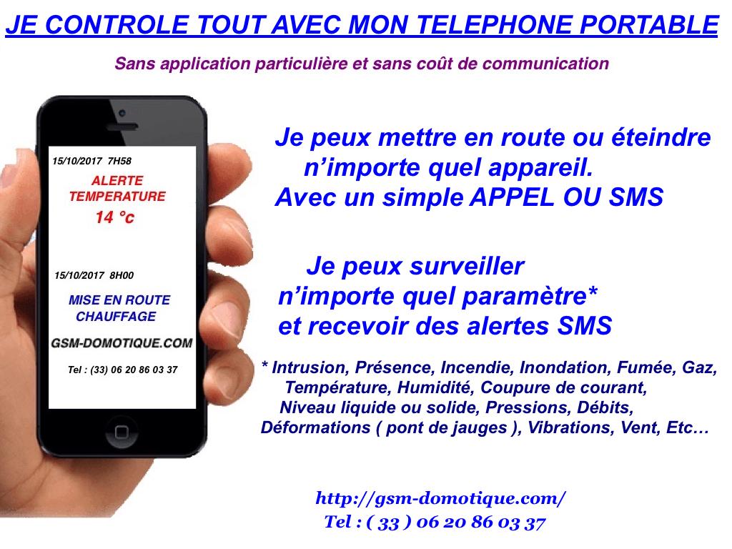 Les applications de GSM-DOMOTIQUE qui font gagner temps et argent