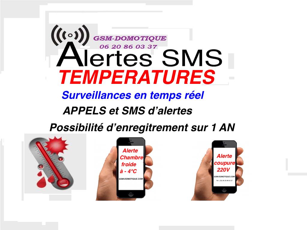 SURVEILLANCES ET ALERTES TEMPERATURES PAR SMS