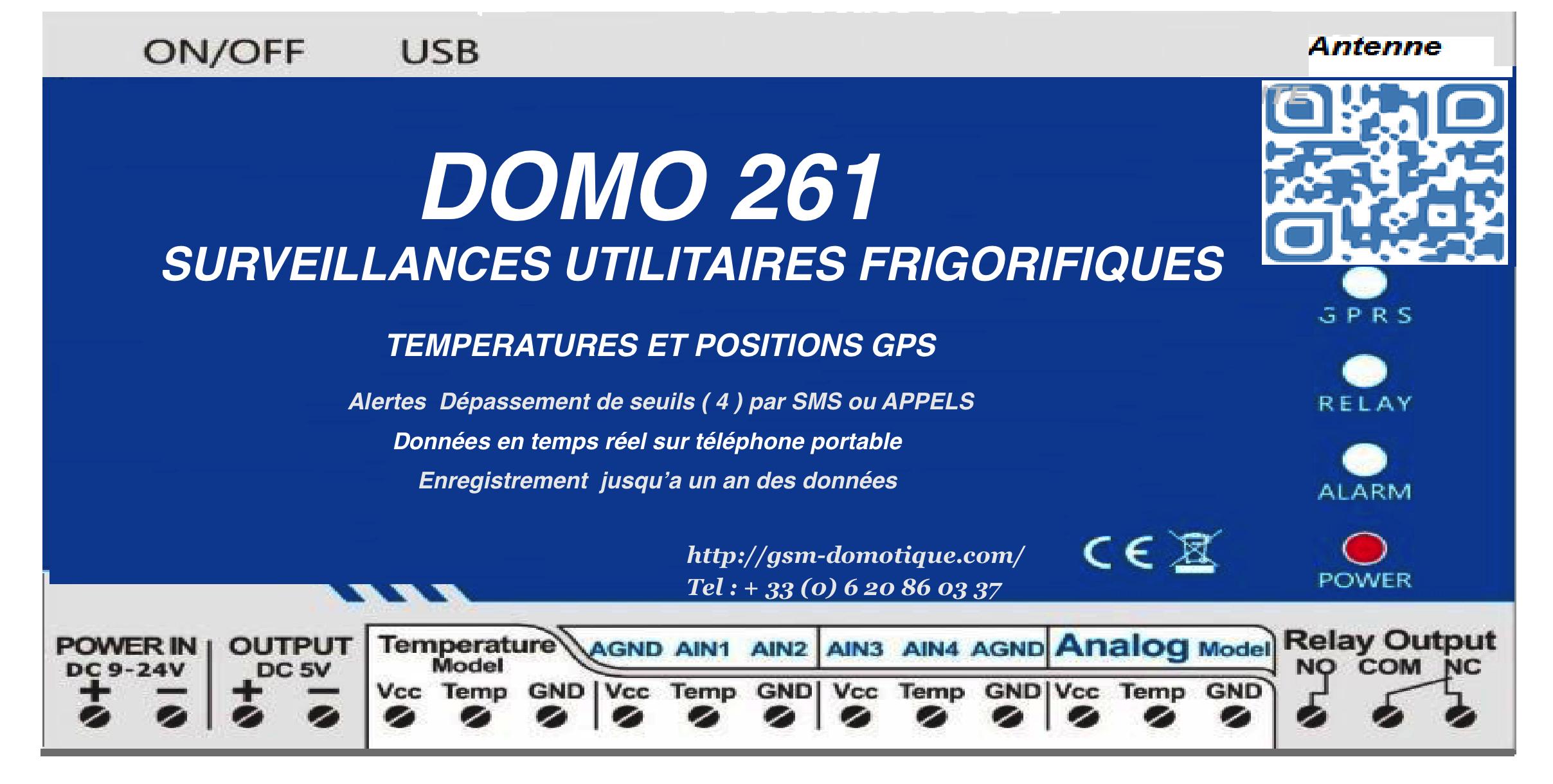 Surveillances utilitaires frigorifiques - Températures et position GPS