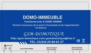 DOMO IMMEUBLE COMMANDE PORTE IMMEUBLE ET APPARTEMENT