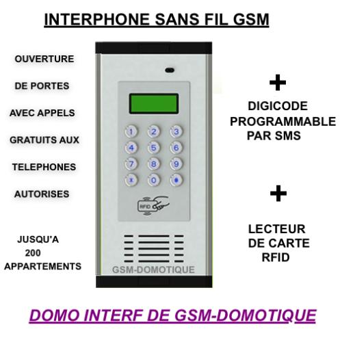 ACCES PAR RFID CODE ET TELEPHONE