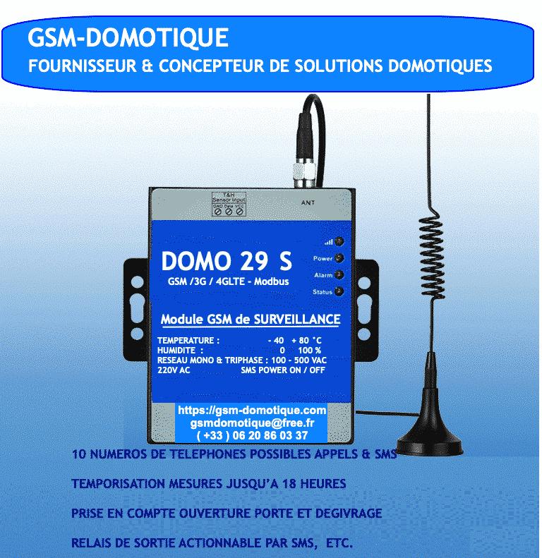 Controleur de température humidité et réseaux electriques