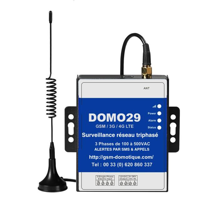 surveillance réseaux triphasés DOMO 29