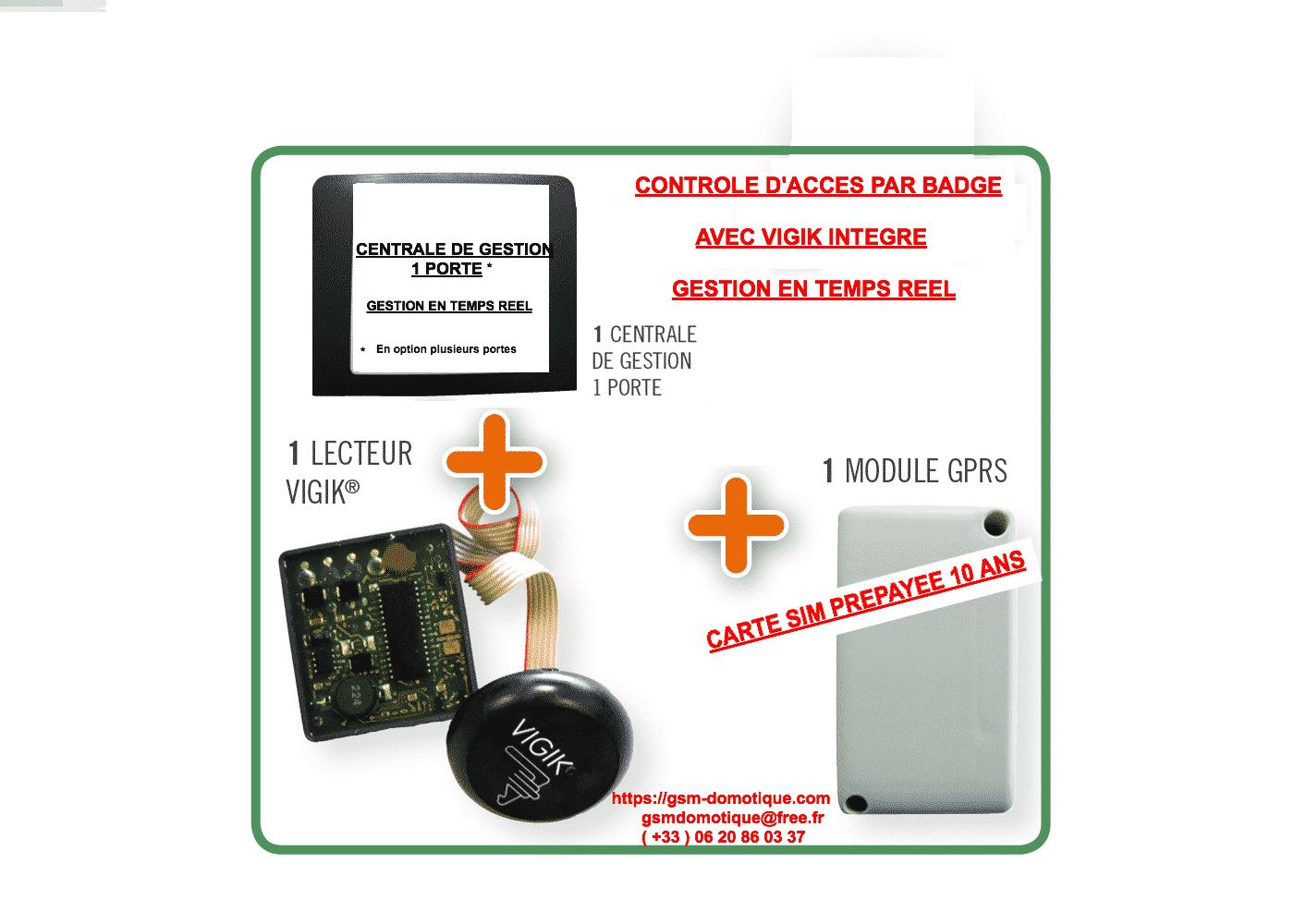 CONTROLEUR D'ACCES PAR BADGES