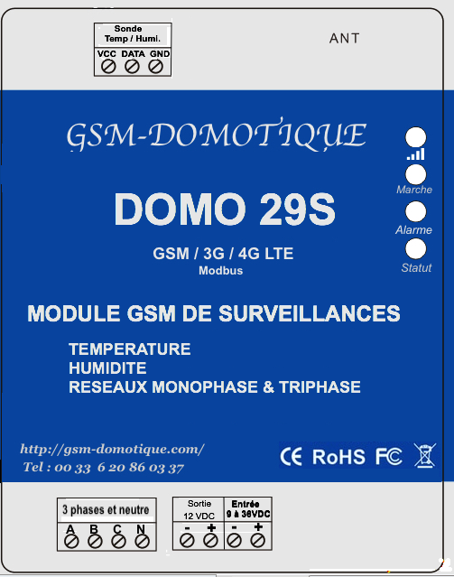 DOMO29 S module de surveillance de température temporisable