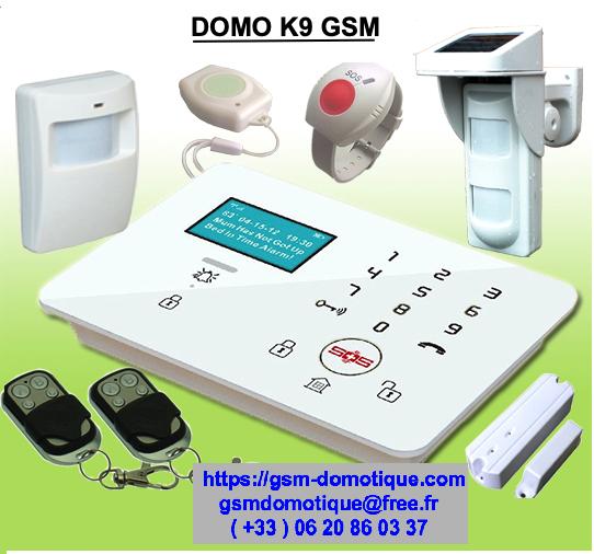 ALARME GSM AVEC SOS PERSONNES AGEES OU DEPENDANTES