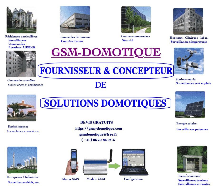 FOURNISSEUR & CONCEPTEUR DE SOLUTIONS DOMOTIQUES