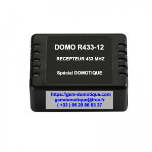 Récepteur 433 MHZ   DOMO R433-12