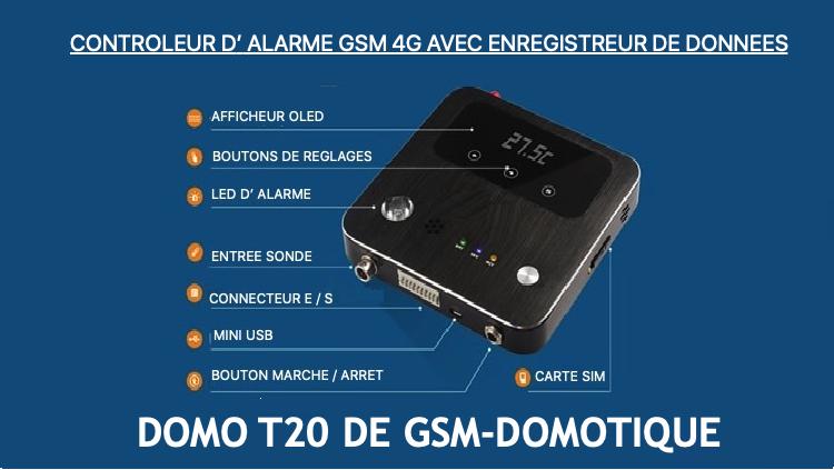 Enregistreur de données de températures 2 voies DOMO T20