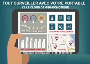 TOUT SURVEILLER AVEC SON TELEPHONE ET LE CLOUD DE GSM-DOMOTIQUE