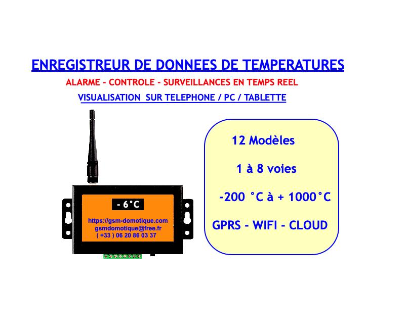 SURVEILLANCES-TEMPERATURES-GSM-DOMOTIQUE